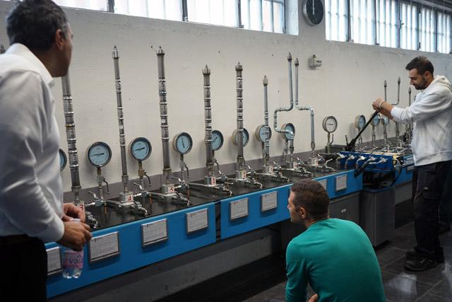 Eurotubi - sala test pressfitting