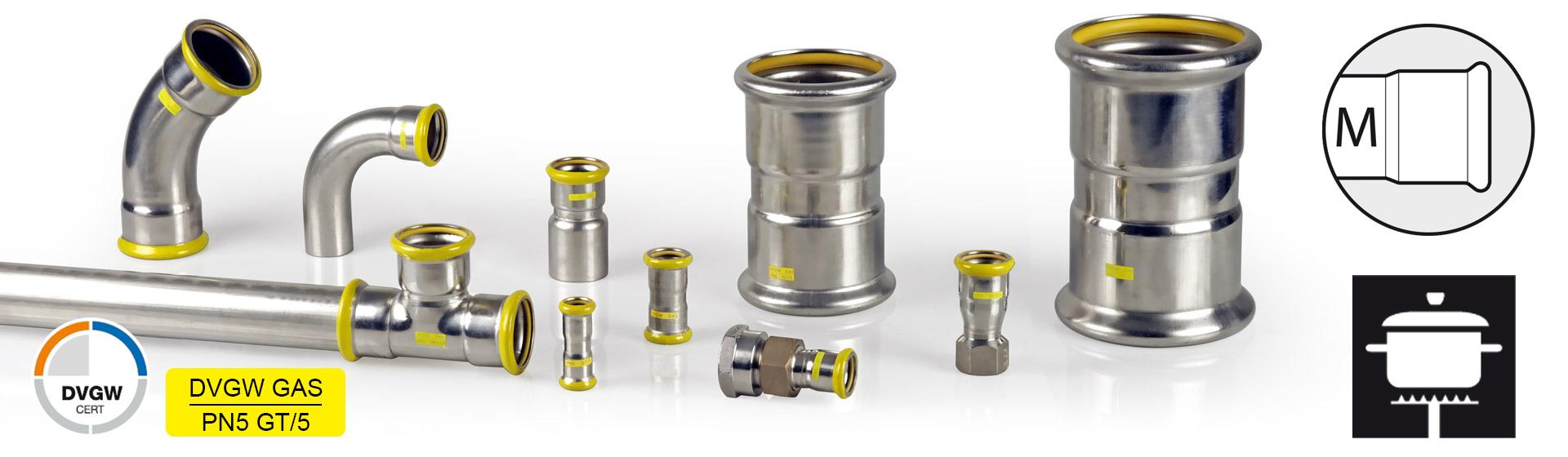 Eurotubi Pressfitting System - Acciaio Inox AISI 3016L GAS