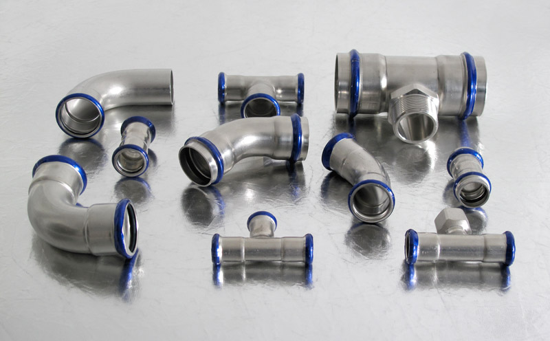 Pressfittings Stainless Steel AISI 316L M and V profiles